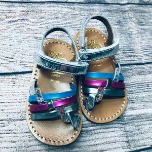 NWOT Pom D'api Woven Poppy Leather Sandal sz4